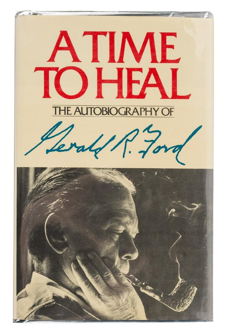Gerald Ford signed book A Time to Heal
