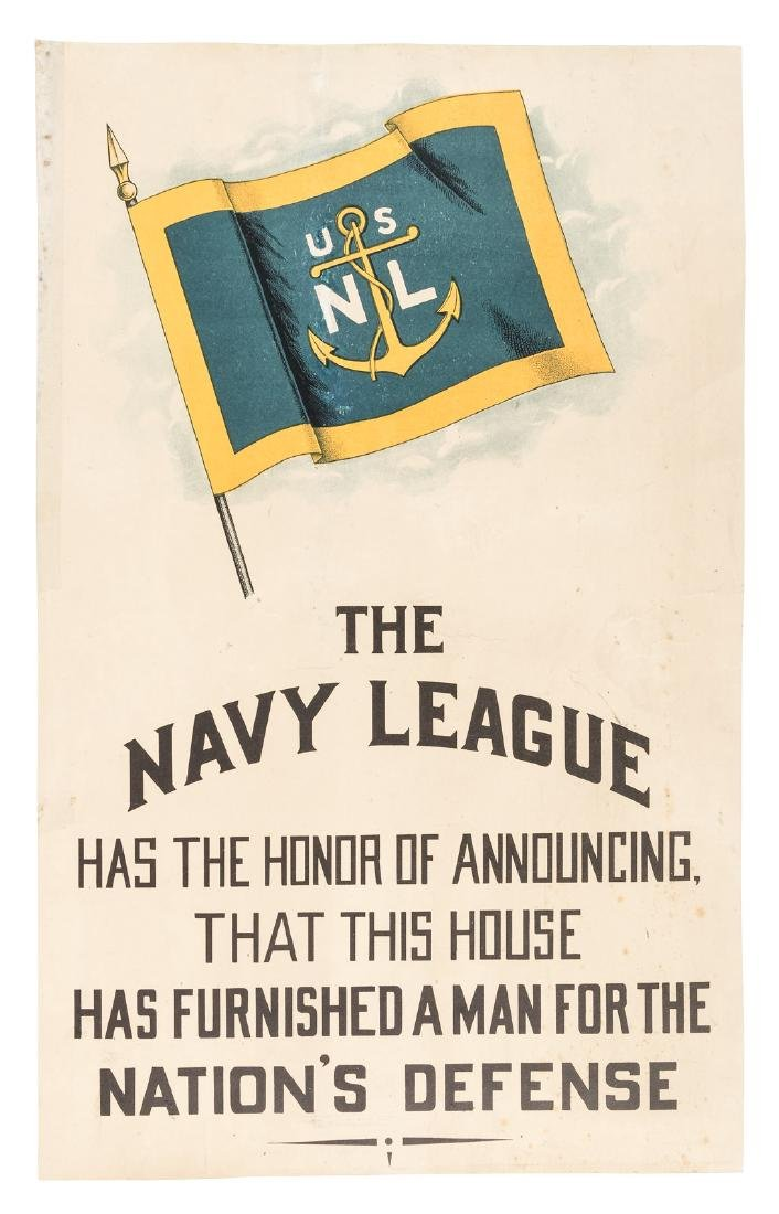 World War One poster from Navy League