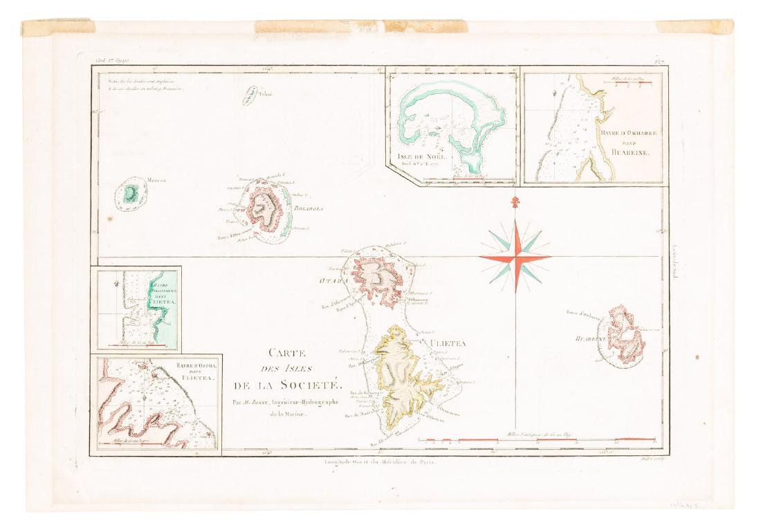 Map of the Society Islands, 1787