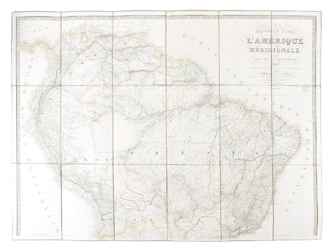 Very large map of South America, 1834