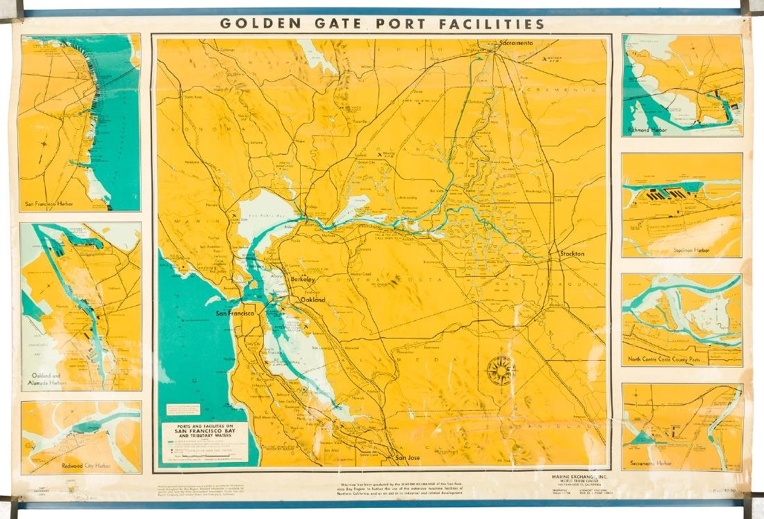 Map of Bay Area ports and facilities