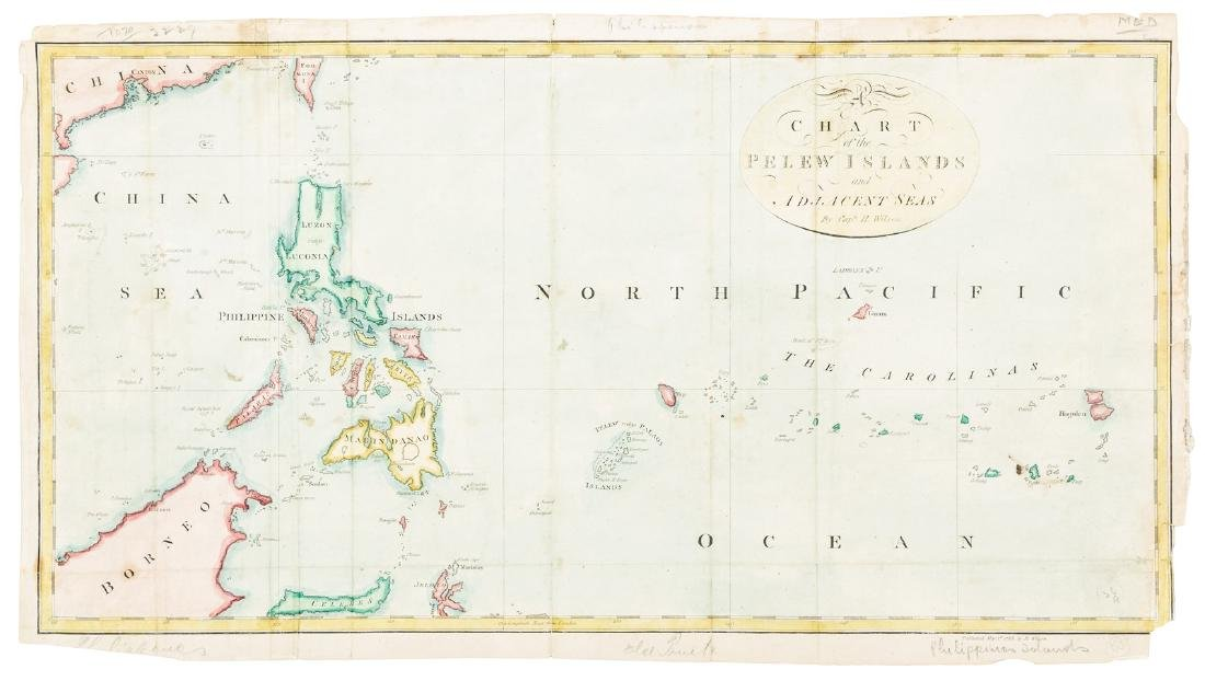 Chart of the Pelew Islands & Philippines, 1788