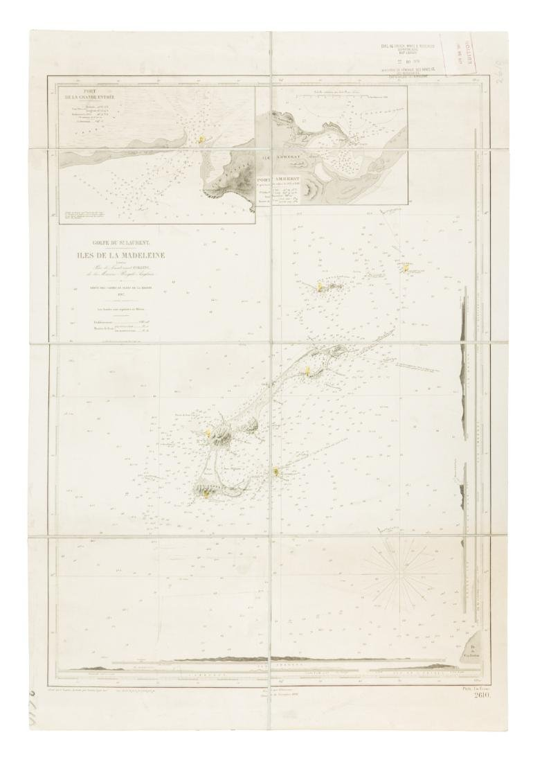 Scarce chart of Madeleine Islands, Canada