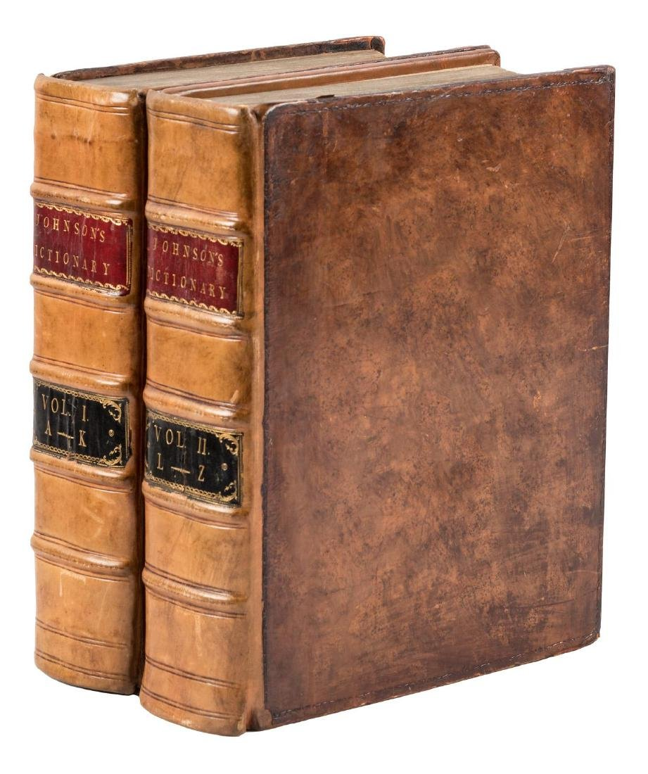 Second quarto edition of Johnson's Dictionary