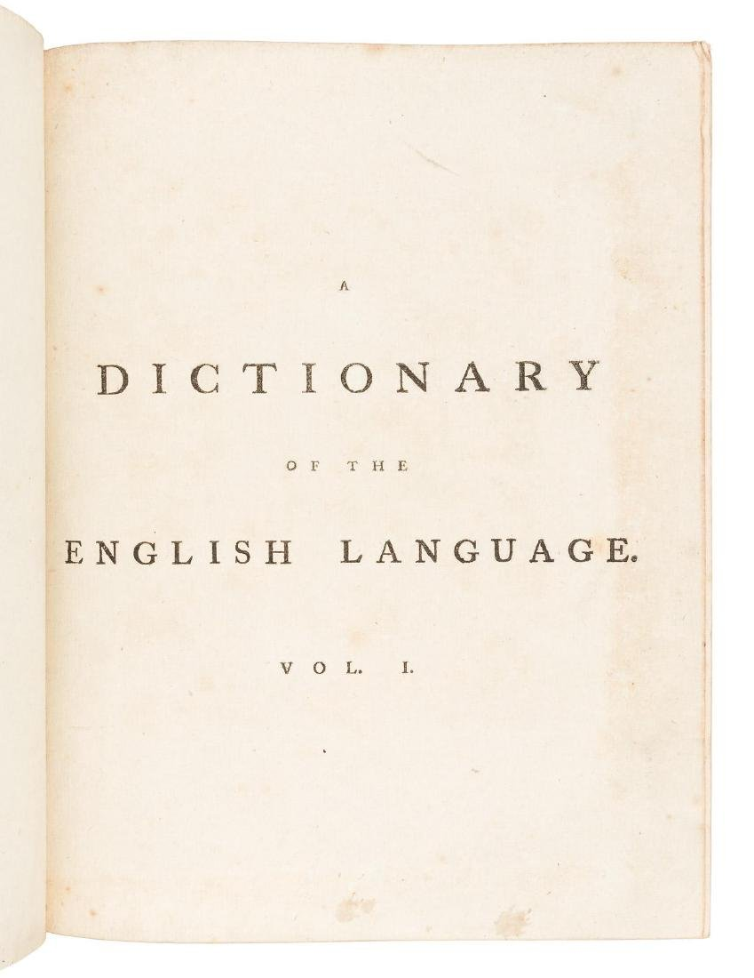 Second quarto edition of Johnson's Dictionary - 3