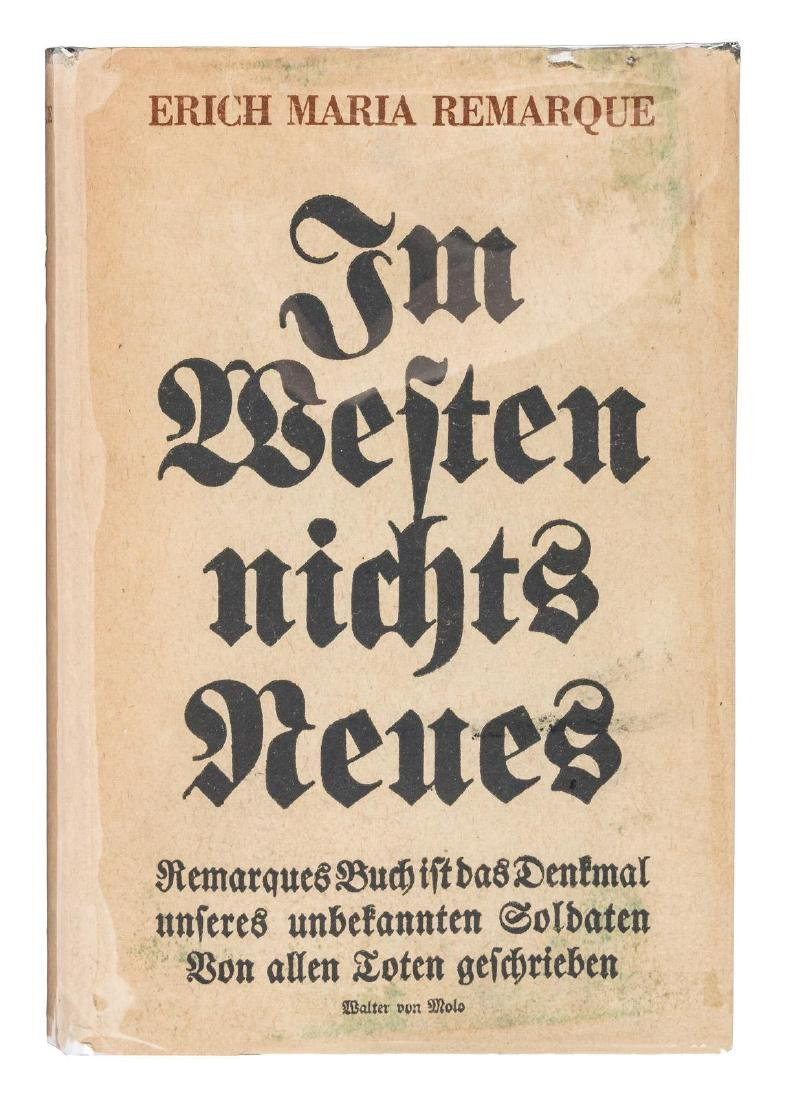 Early German Printing of All Quiet on the Western Front