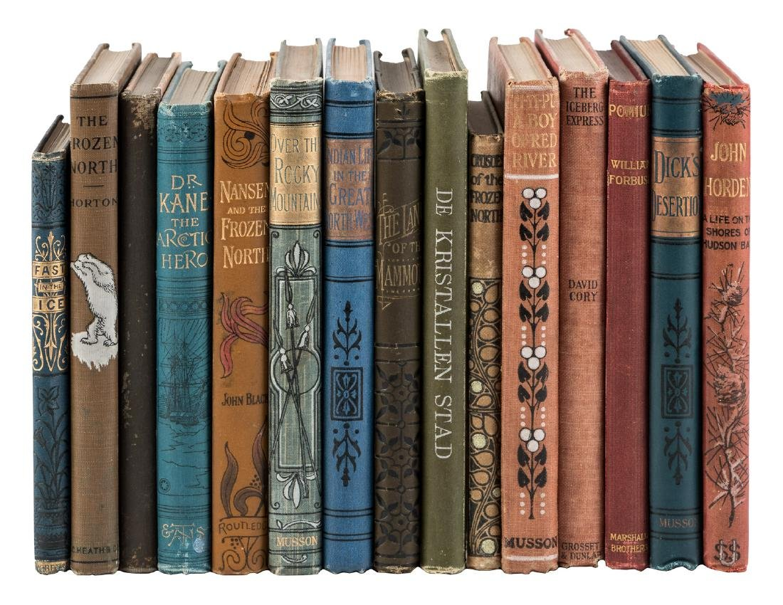 15 volumes of arctic adventure tales for young people