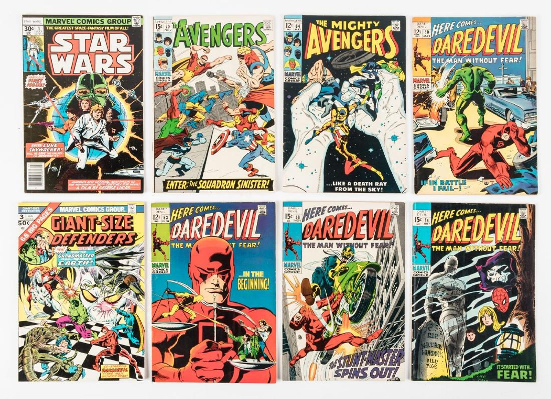 8 issues of Marvel comics from the 1960's and 70's