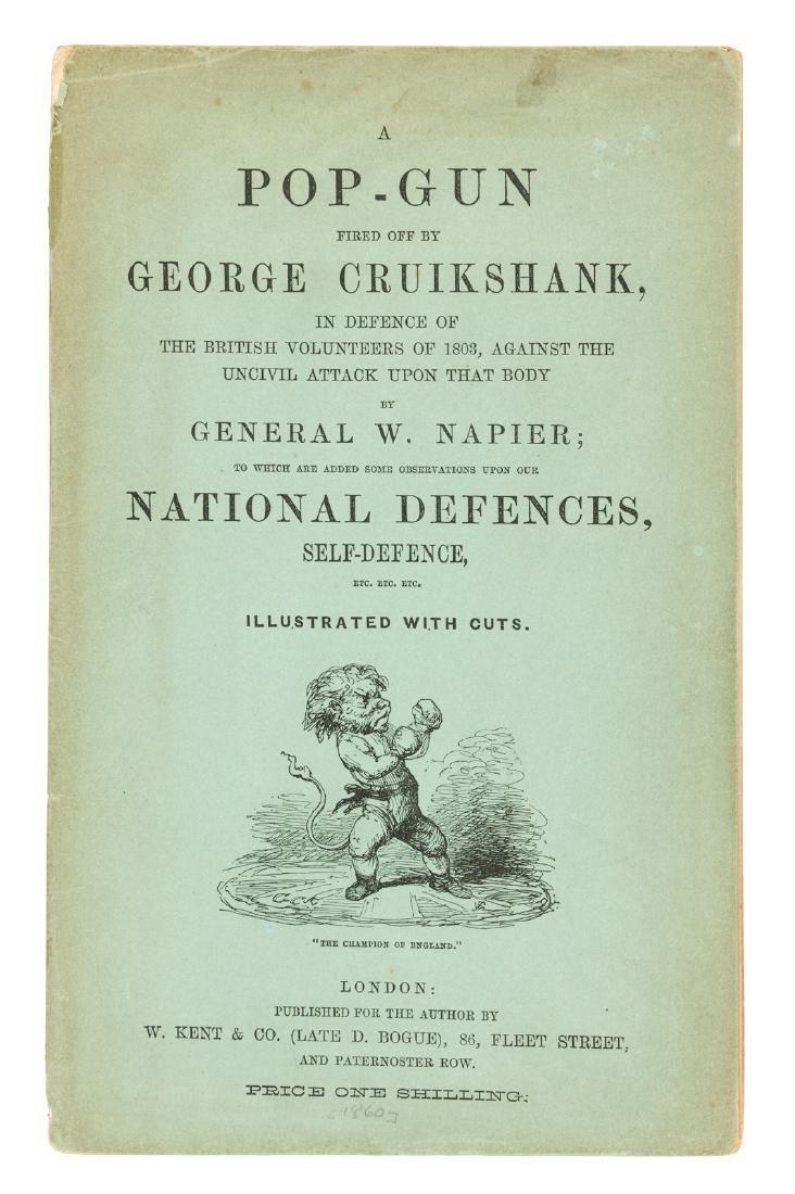 A Pop-Gun Fired Off by George Cruikshank
