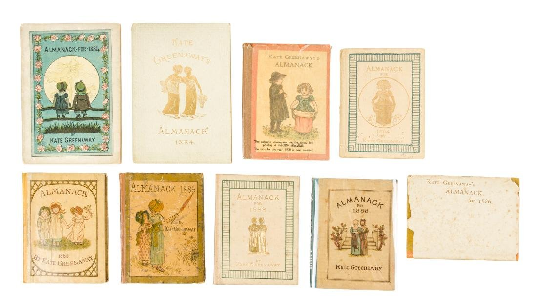 9 issues of Kate Greenaway's Almanack