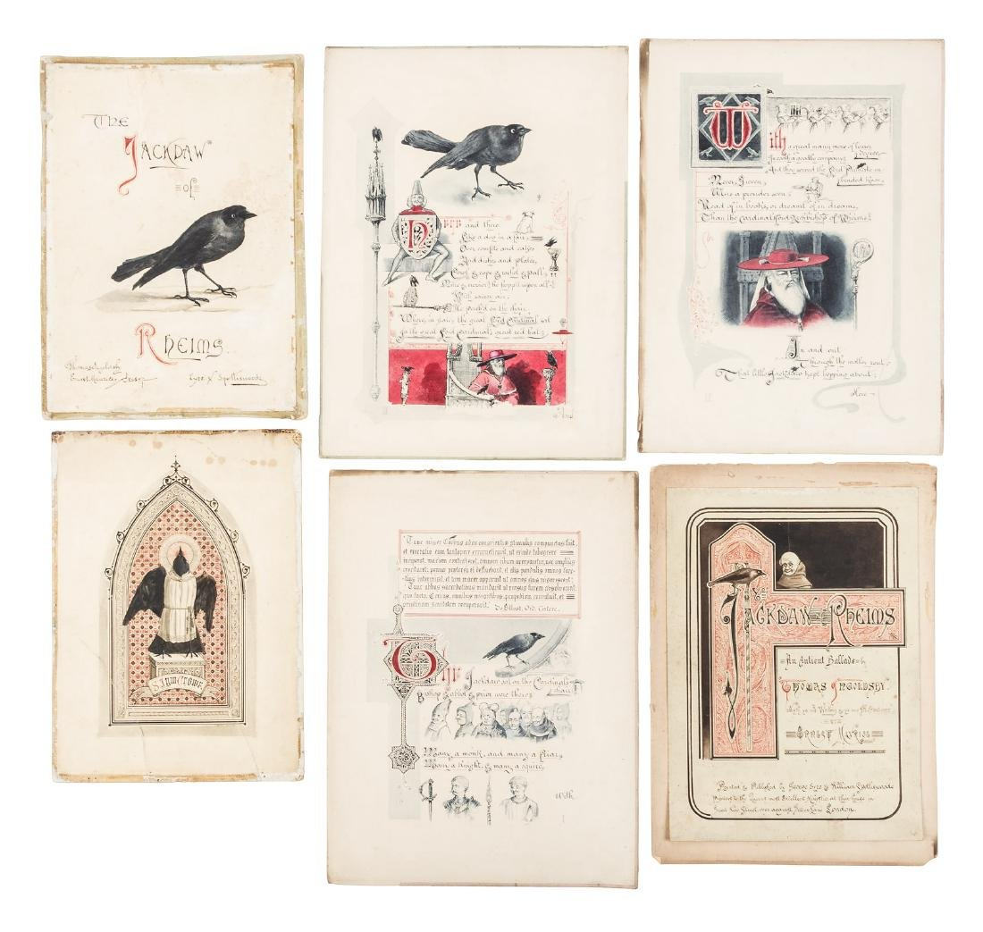 Original watercolor illustrations for The Jackdaw of