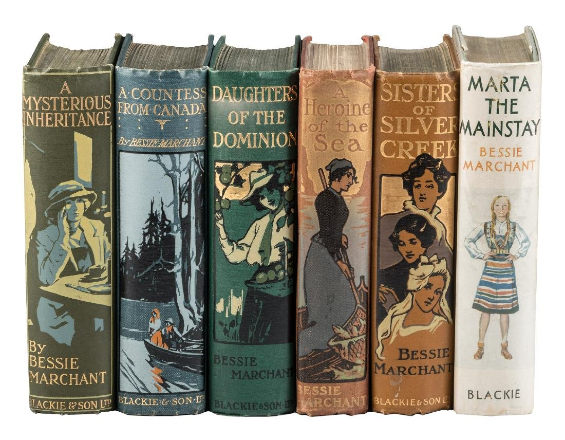Six by Bessie Marchant decorative cloth bindings