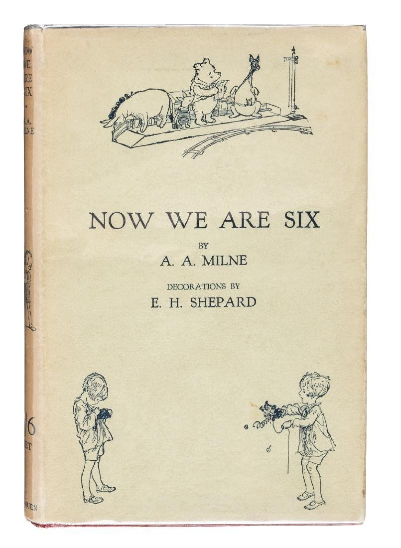 A.A. Milne Now We Are Six 1st Edition in jacket