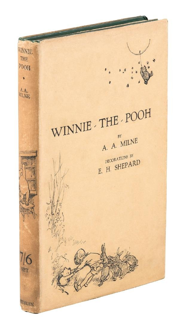 First Edition of Winnie the Pooh in dust jacket