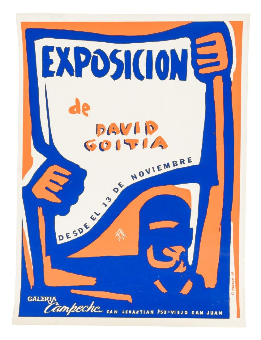 Poster for Puerto Rican artist David Goita