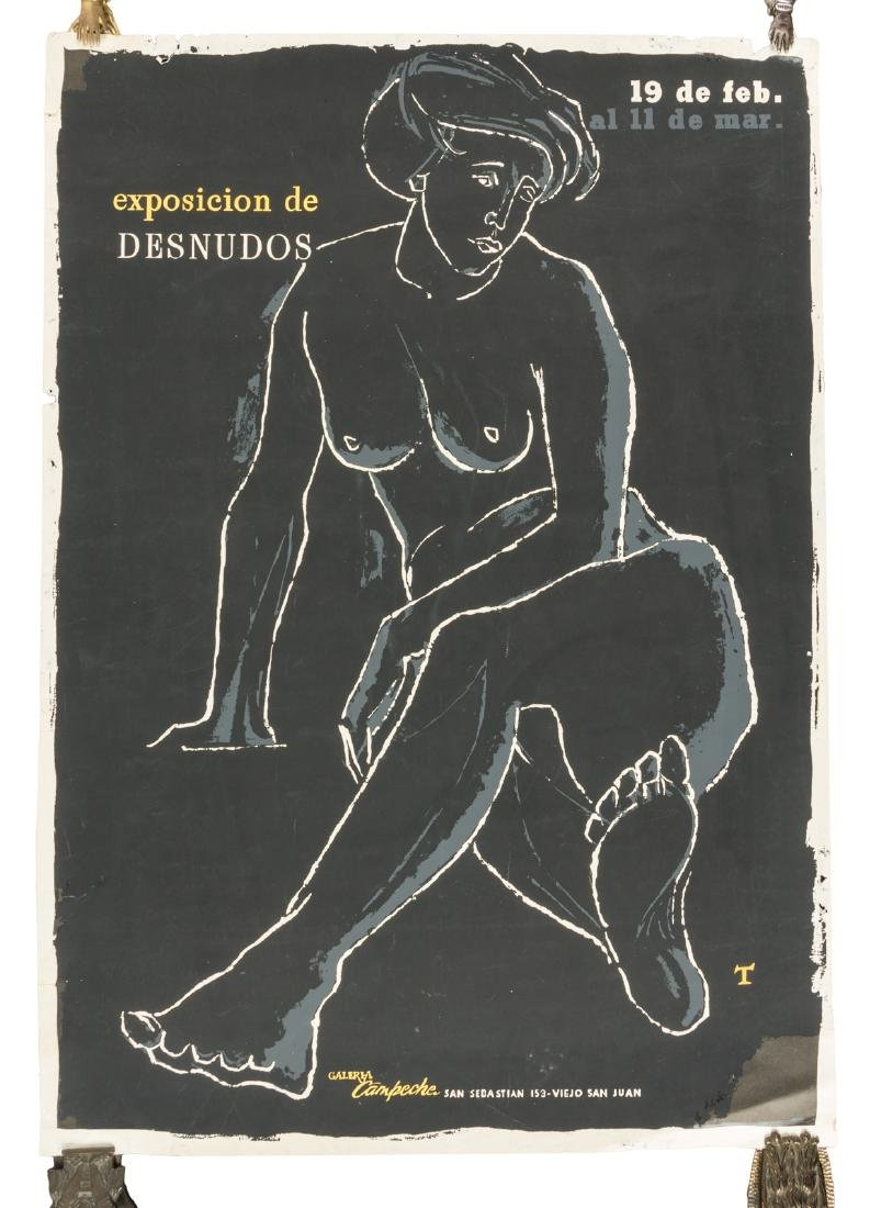 Poster for exhibit of Puerto Rican nudes