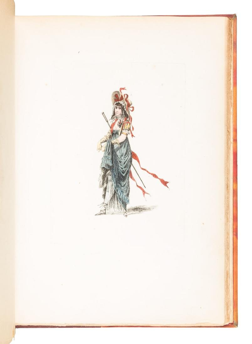 Colored costume plates of French Revolution - 4