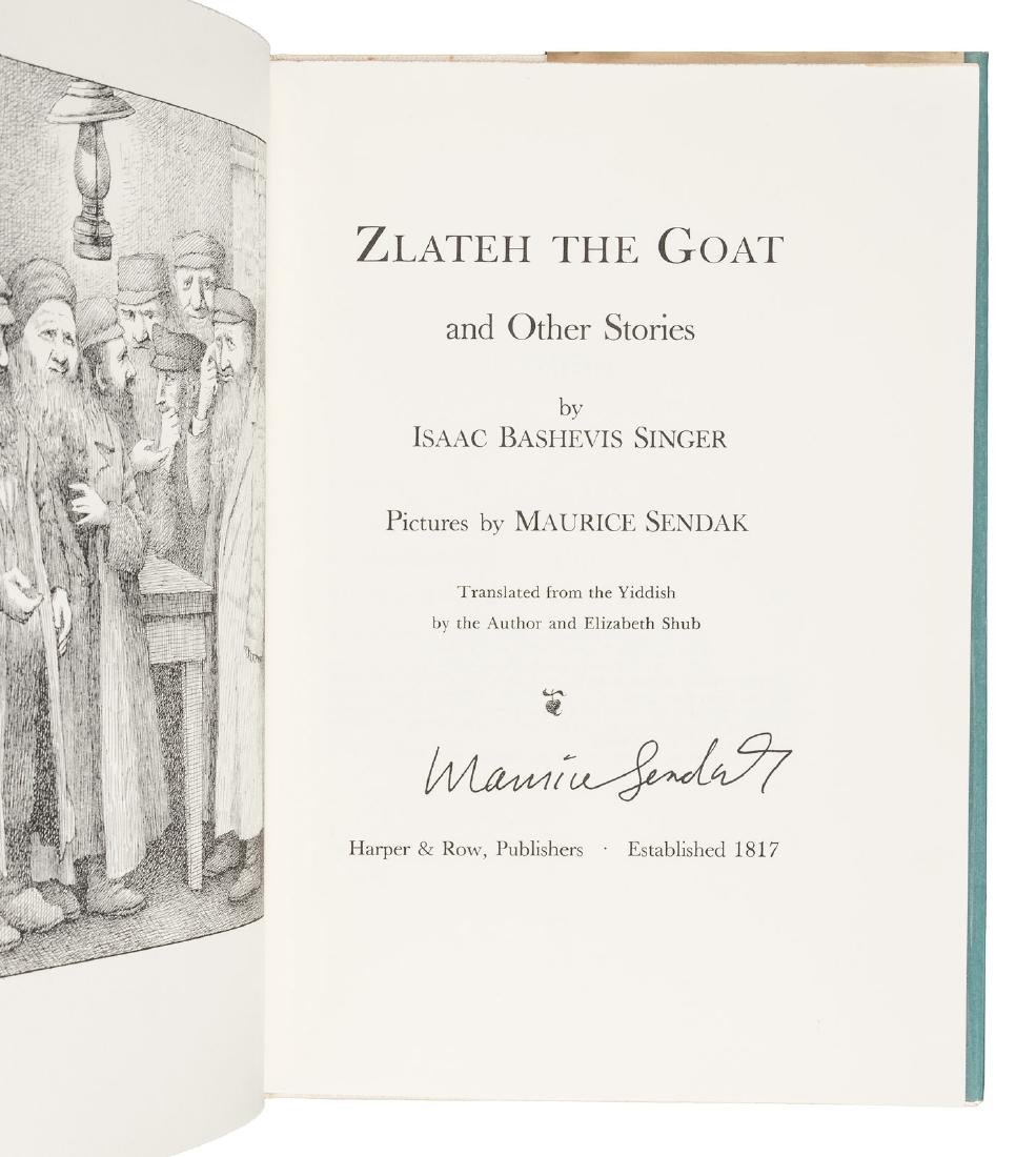 Zlateh the Goat signed by Maurice Sendak - 2