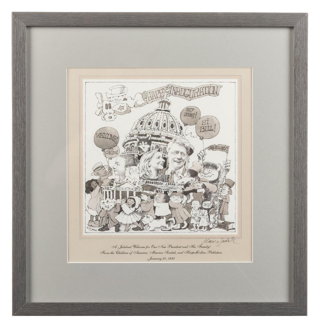 Maurice Sendak Bill Clinton Inauguration Print