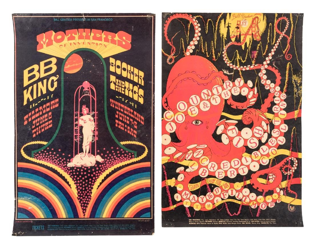 Five Bill Graham Fillmore posters