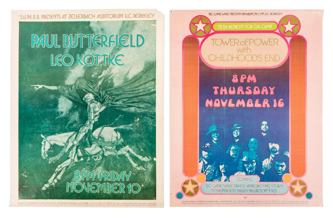 Six Bay Area counterculture posters - 2