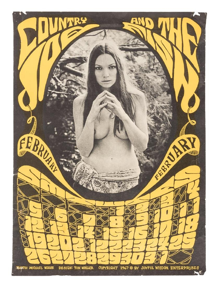 Country Joe nude calendar February 1967
