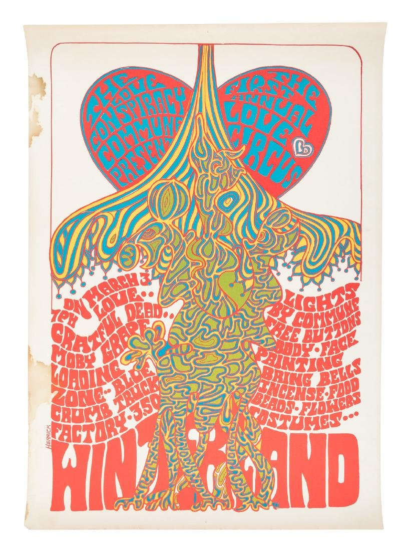 Love Circus w/Grateful Dead 1st print poster