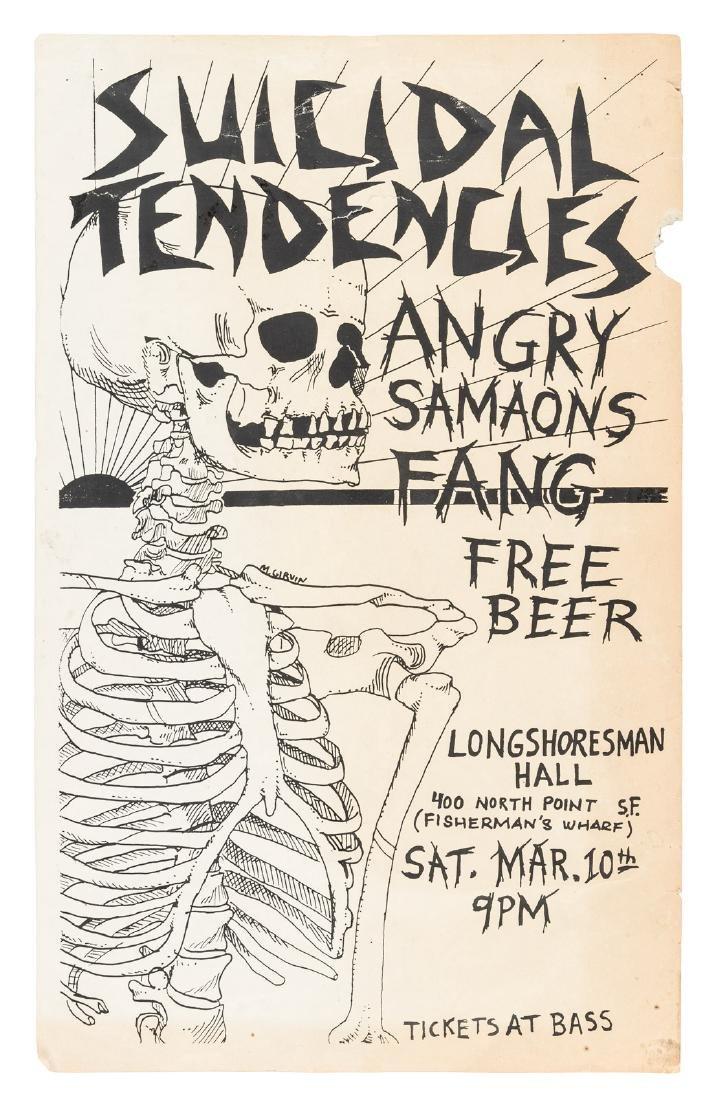Suicidal Tendencies San Francisco poster 1984