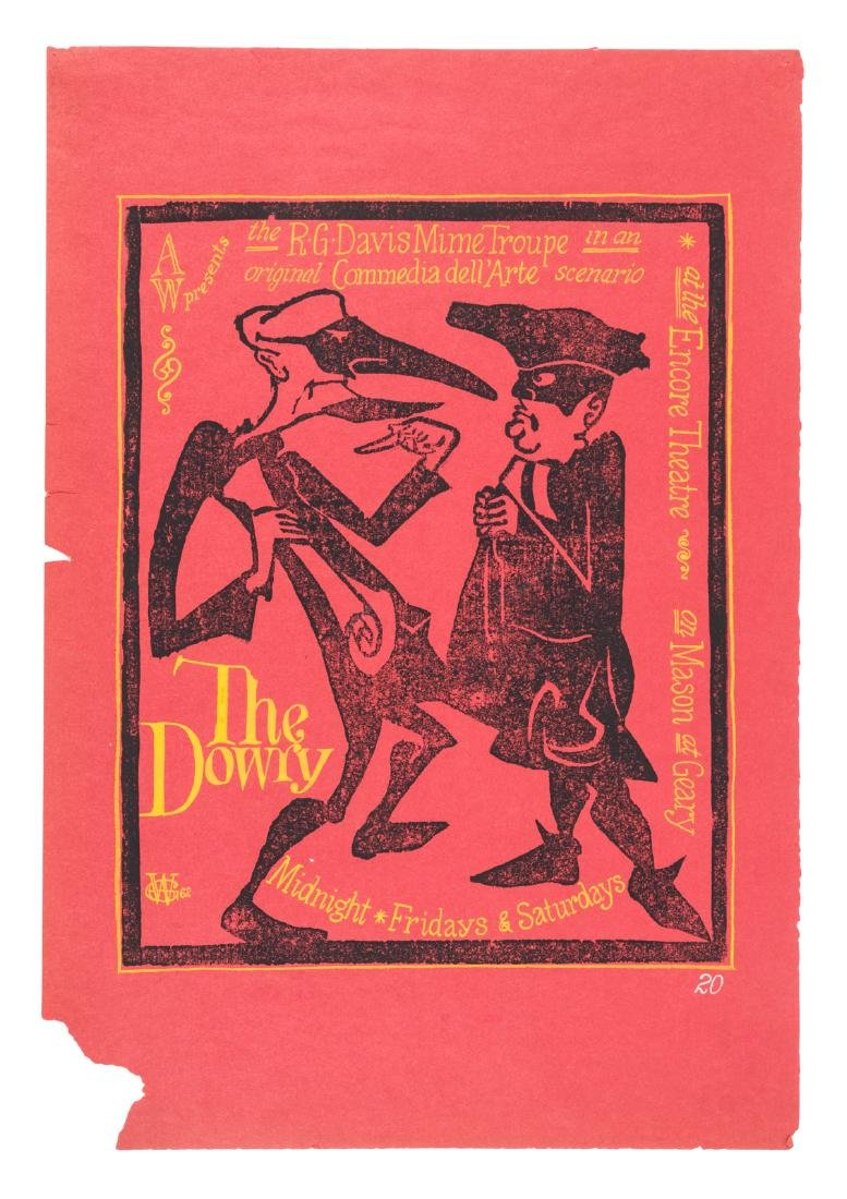 R.G. Davis Mime Troupe Dowry poster 1962