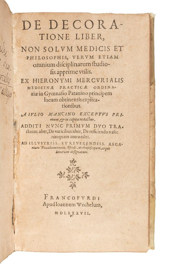 First published description of rhinoplasty 1587