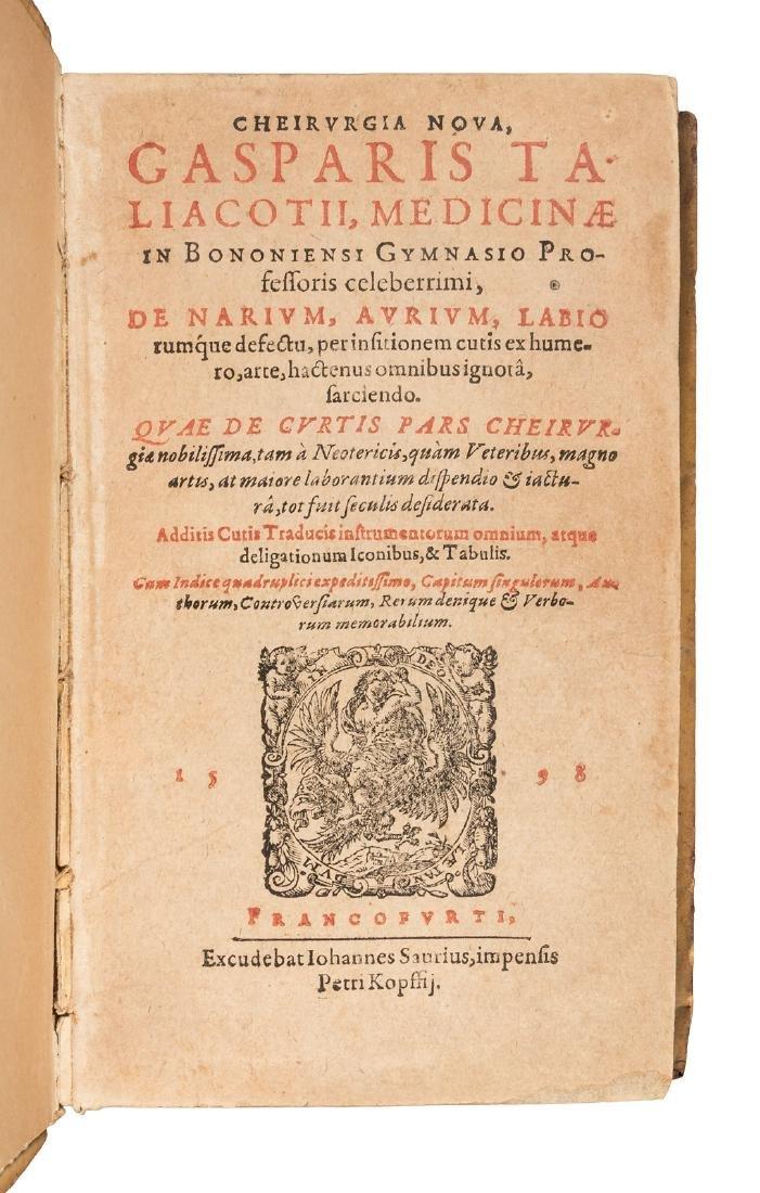First work on rhinoplasty 1598 - 2