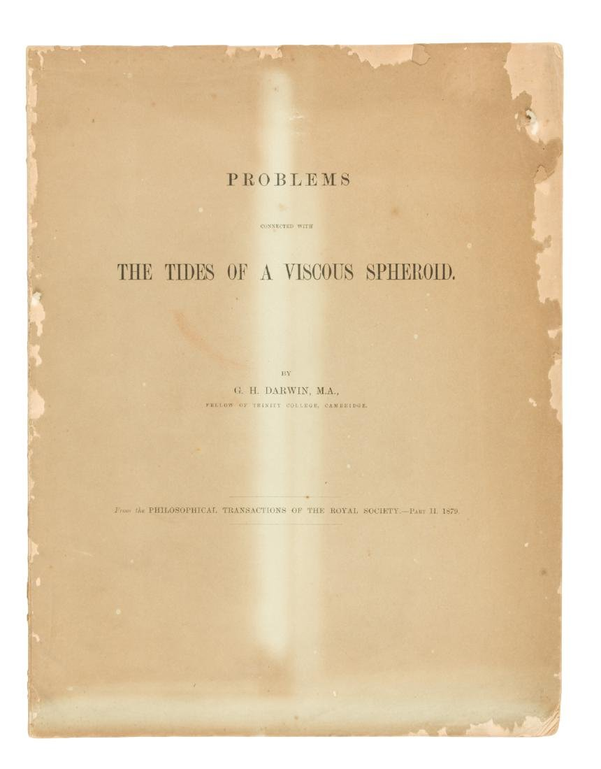 G.H. Darwin on tides of a viscous spheroid