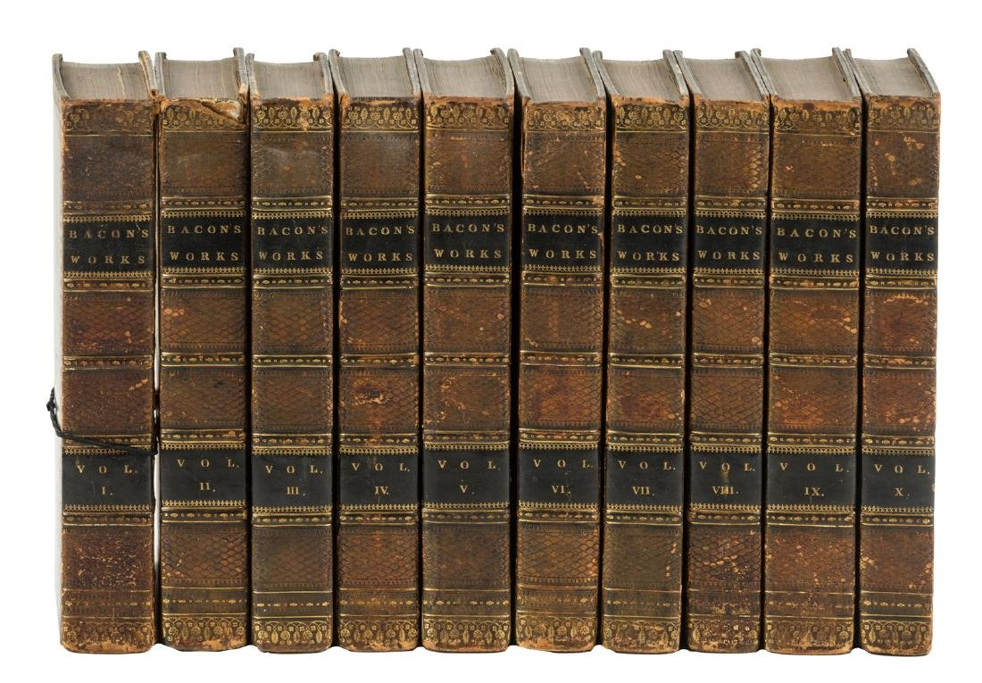 The Works of Francis Bacon in 10 volumes 1819