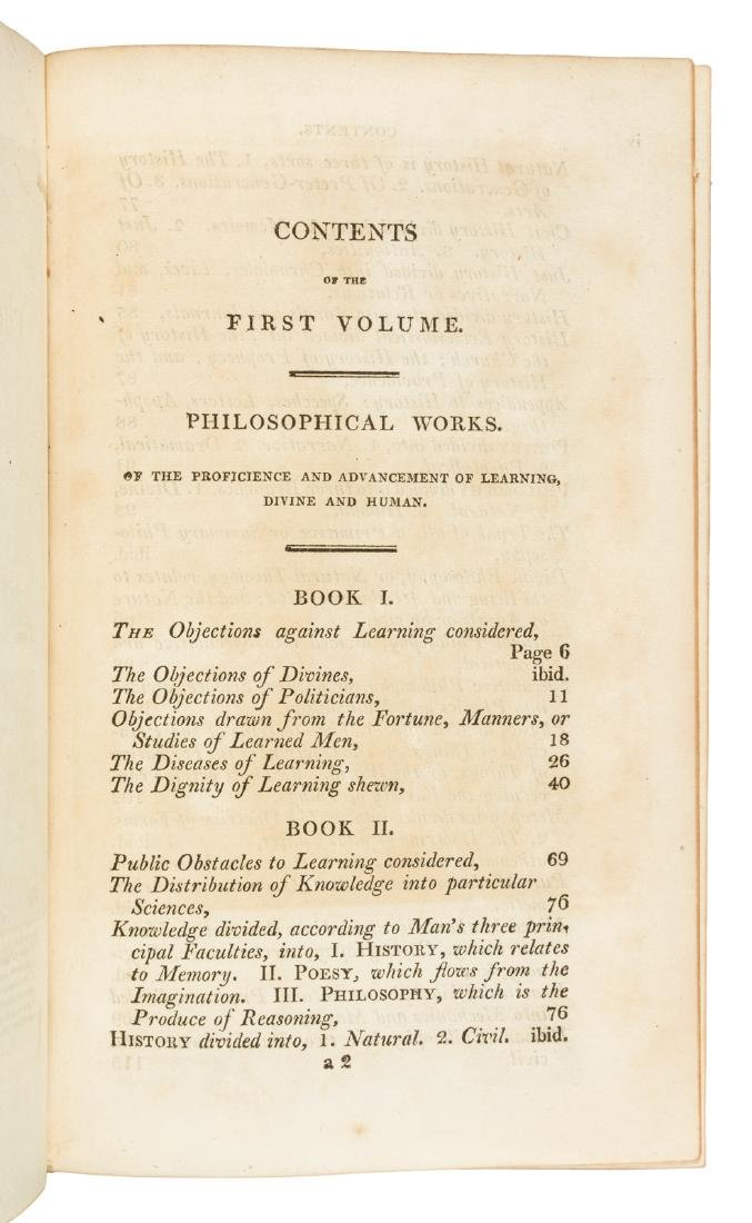The Works of Francis Bacon in 10 volumes 1819 - 4