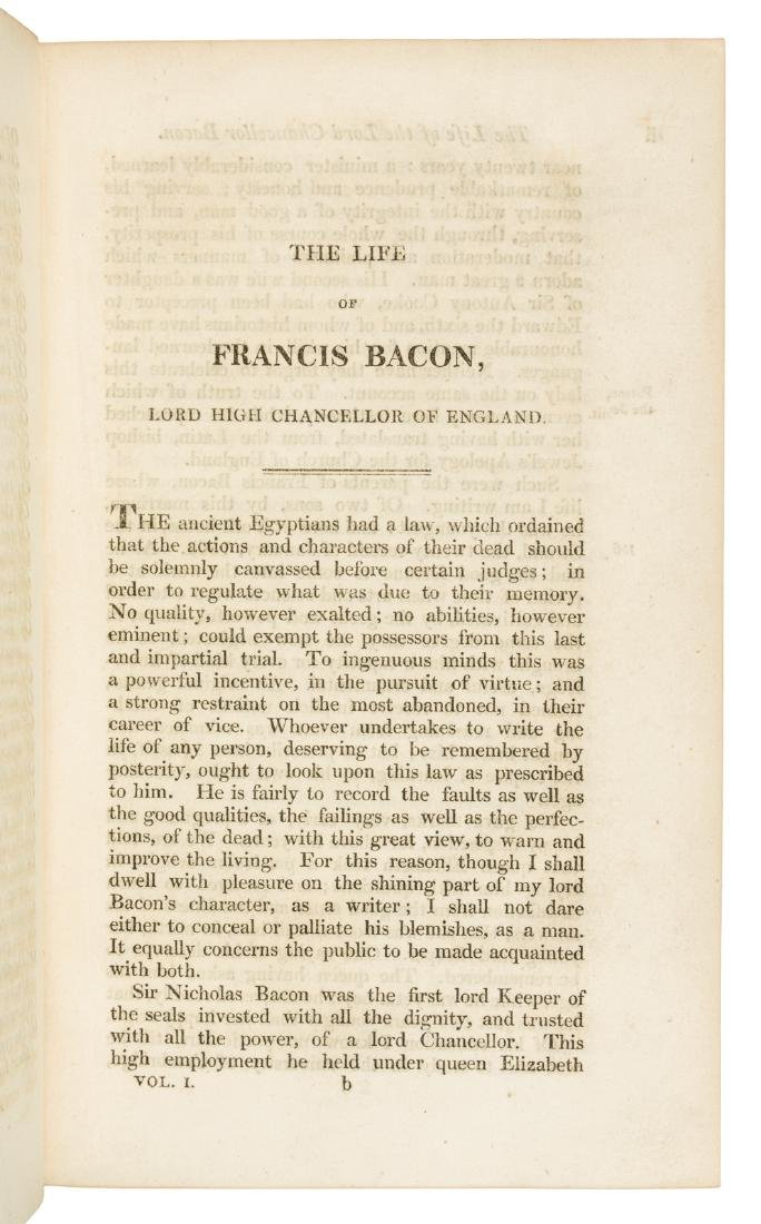 The Works of Francis Bacon in 10 volumes 1819 - 5