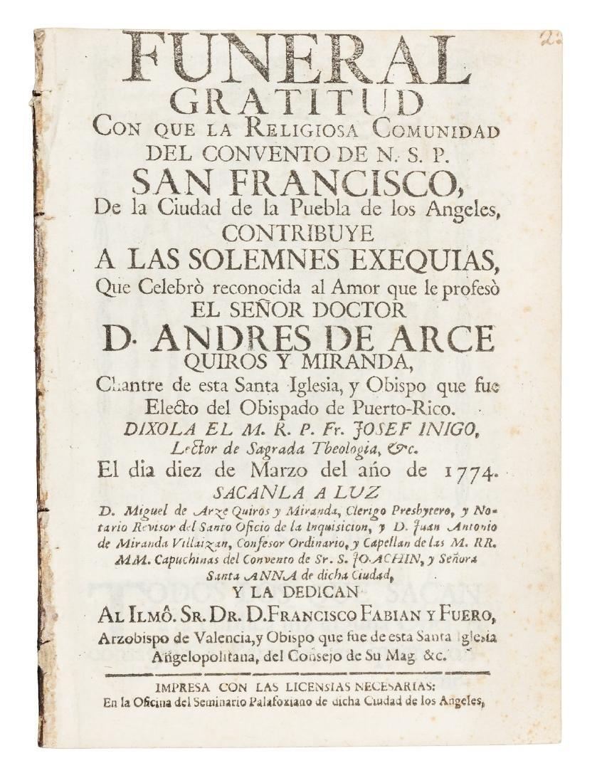 Funeral sermon in Mexico 1774