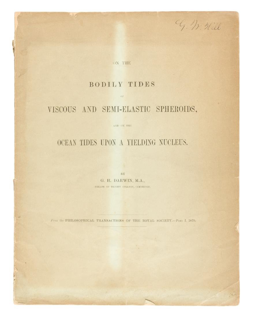 G.H. Darwin on spheroids and ocean tides 1879