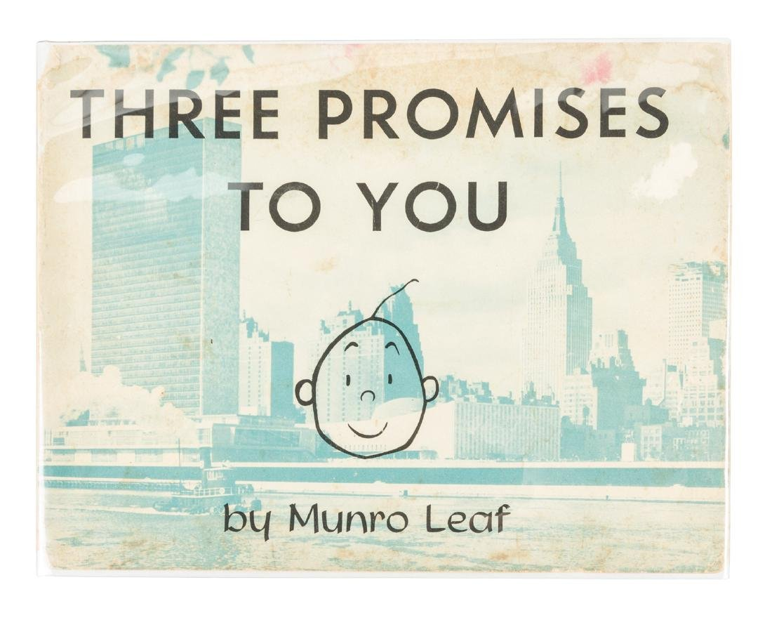 Munro Leaf Three Promises to You signed