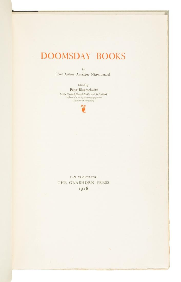 Grabhorn Press - Doomsday Books 1928