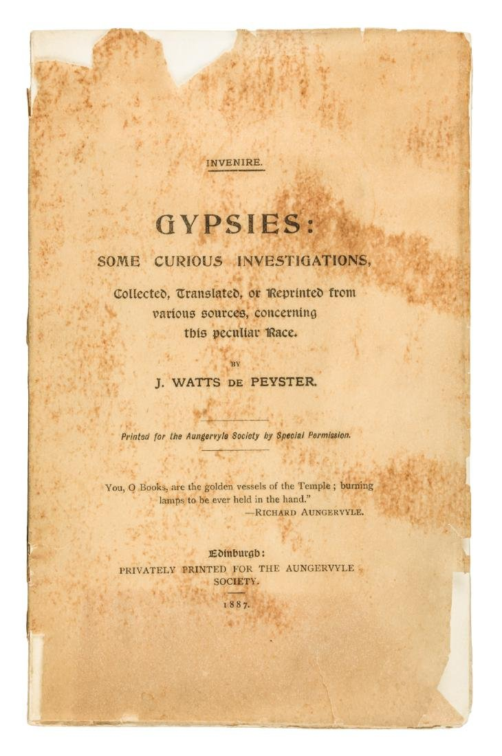 J. Watts de Peyster on Gypsies