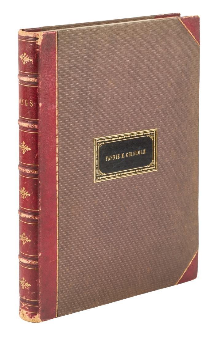 Bound volume of 19th century sheet music