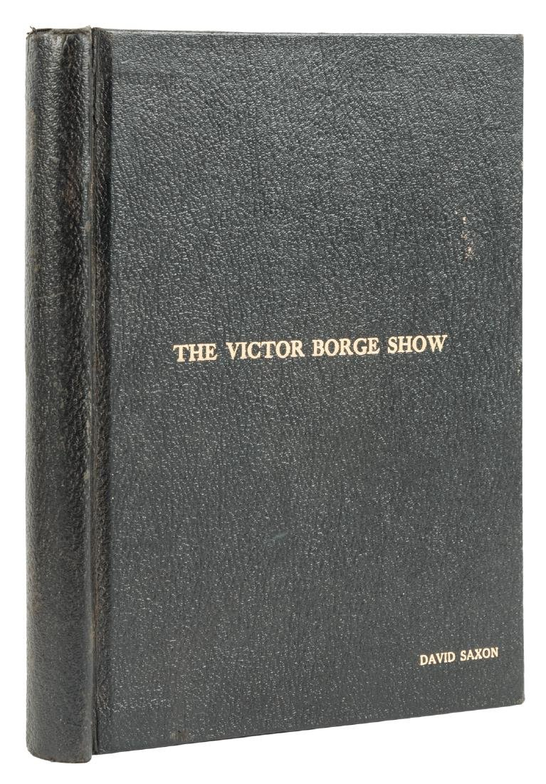 Script for the Victor Borge Show signed by Mel Brooks