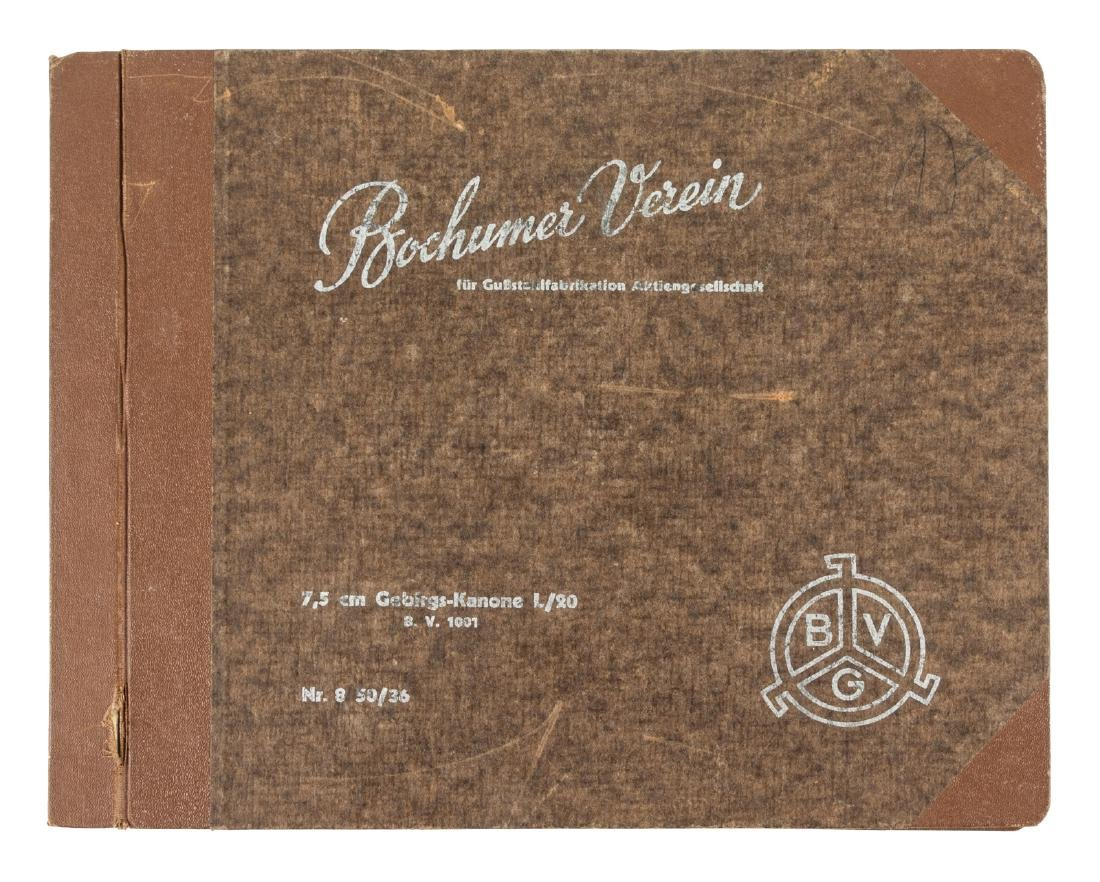German trade catalog for Cannons and Caissons by BVG
