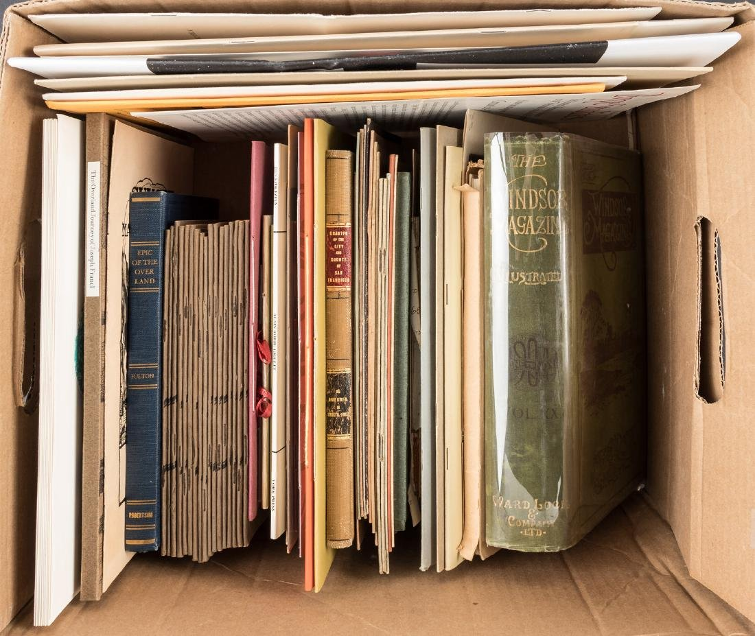 A collection of miscellaneous volumes and ephemera
