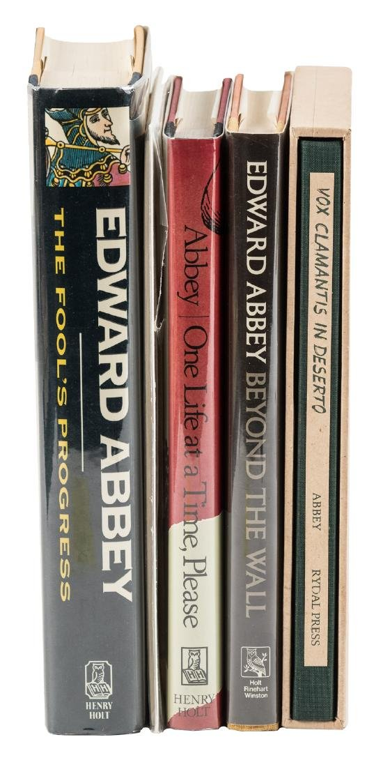Five first editions by Edward Abbey, 4 signed
