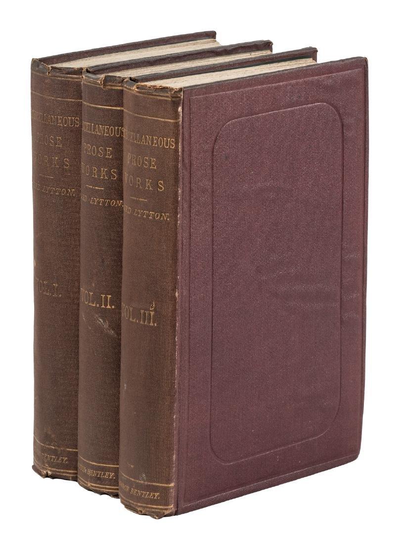 Edward Bulwer-Lytton Miscellaneous Prose Works 3 vols.