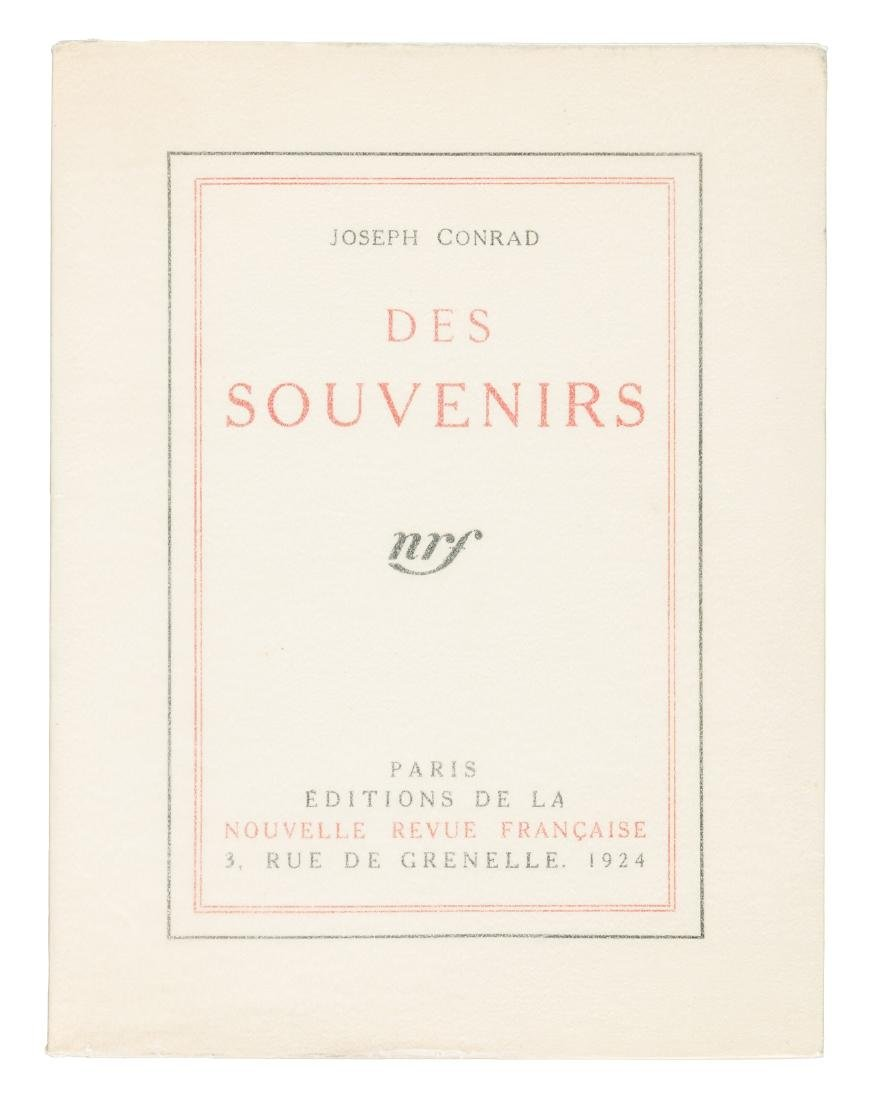 Joseph Conrad's Personal Record 1st French Ed. 1/8