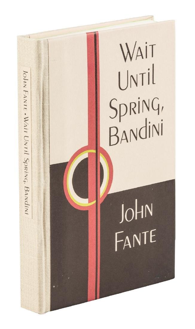 John Fante Wait Until Spring Bandini signed limited