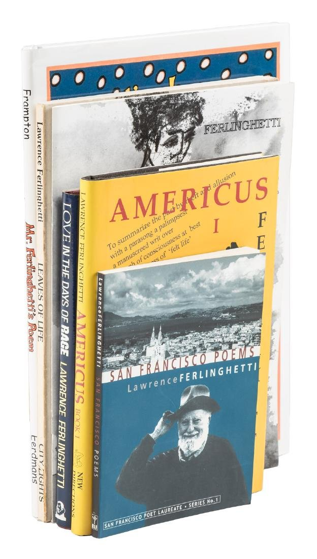 Six works signed by Lawrence Ferlinghetti