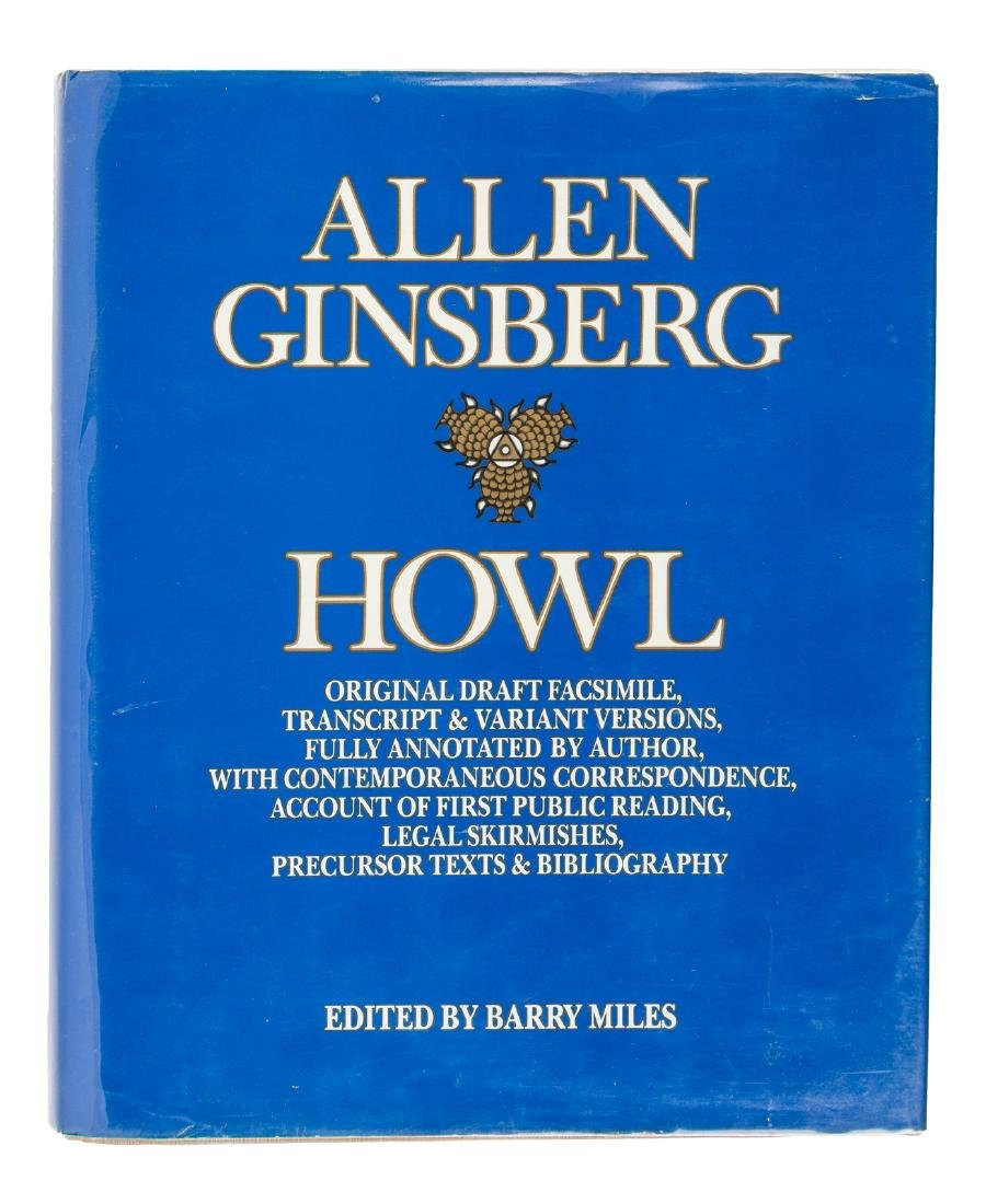 Howl, edited by Barry Miles 1986 signed by Ferlinghetti